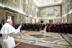 1_Святіший Отець зустрівся з представниками Папського благодійного фонду з США