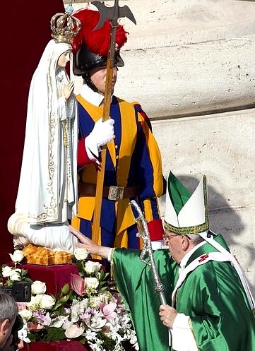 Папа і Богородиця Фатімська