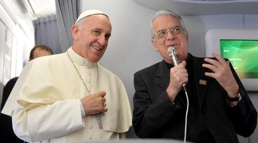 о.Федеріко Ломбарді і Папа Франциск