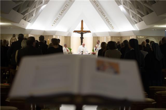 Папа Франциск на ранішіній Месі_Осерваторе Романо