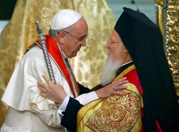 Папа Франциск та Пітріарх Варфолое