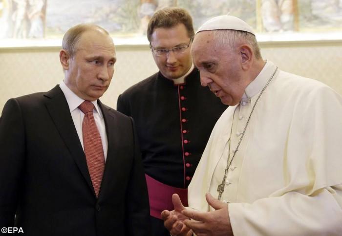 Путін у Папи
