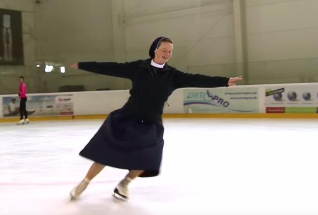 монахиня на ковзанах