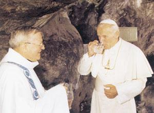 Йоан Павло ІІ в Лурді