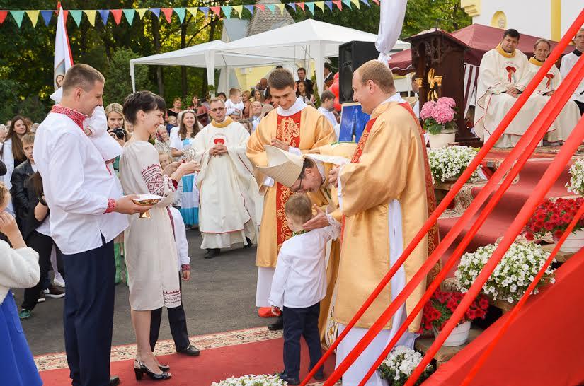 Відкриття санктуарію Ісусового Серця
