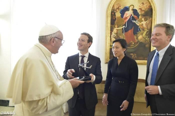 Цукерберг у Папи