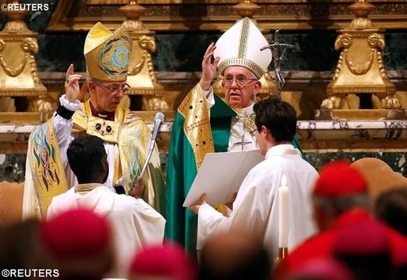 Папа та Архиєпископ Кентерберійський: прямувати до єдності попри поділи