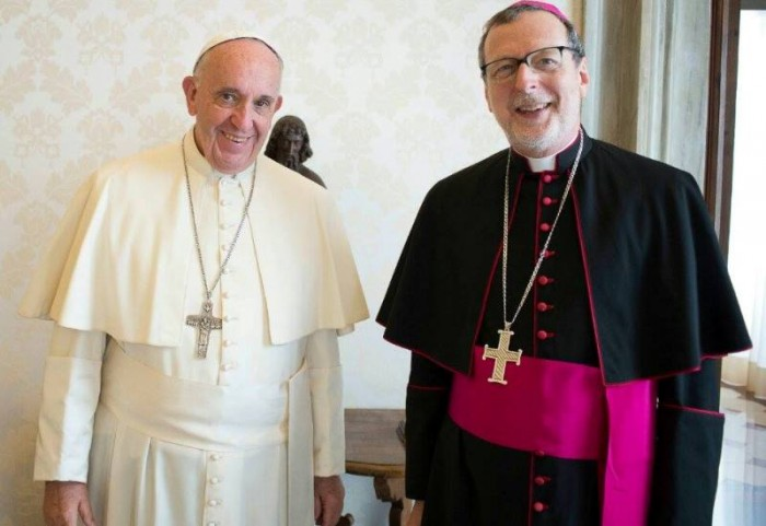 Нунцій Клаудіо Ґуджеротті з папою