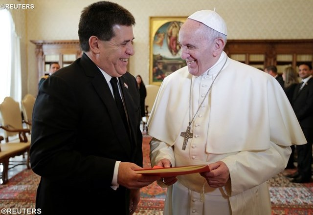 Папа Франциск прийняв у Ватикані Президента Парагваю Орасіо Мануеля Картеса Хару