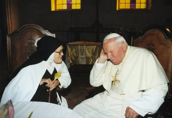 Йоан Павло ІІ та с. Лусія Дос Сантос
